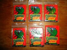 DINOSAURS ATTACK! COMIC BOOK TRADING CARDS - 6 UNOPENED PACKS - 1988 TOPPS