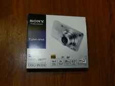 New in Open Box - Sony Cyber-Shot DSC-W350 14.1 MP Camera - SILVER- 027242779327