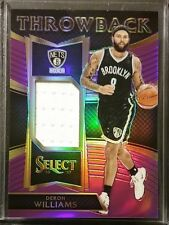 2016-17 Select Throwback DERON WILLIAMS Purple Prizm Refractor Jersey Relic /99
