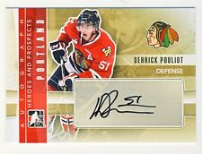 Derrick Pouliot 2011-12 ITG Heroes Prospects Hockey Autographed Auto Card #A-DPO