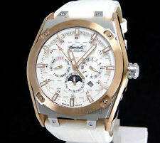 INGERSOLL GERMAN DESIGN AUTOMATIC ROSE GOLD 316 SOLID STEEL LEATHER IN1207RWH