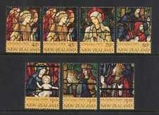 New Zealand 1995 Christmas/Stained Glass 7v set n20639