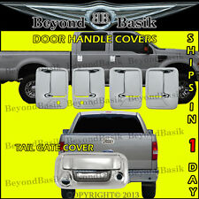 2008-2016 Ford F250-550 SuperDuty Chrome 4 Door Handle COVERS wPSK+Tailgate wCam