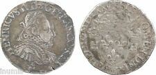 Henri III, teston sans POL, Bordeaux, 1575, RARE - 85