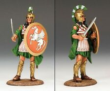 King & Country Ancient Greece Ag004 Hoplite With Sword & Shield Mib