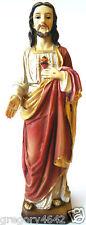 STATUE SACREE COEUR DE JESUS 21 CM MATIERE RESINE