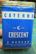 Crescent Spice Tin Crescent Cayenne tin 2oz has some in it - recipe on back