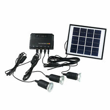 Outdoor Solar Powered Led Lighting Bulb Lamp System Solar Panel Home System Kit