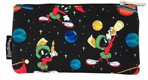 Loungefly Marvin The Martian Makeup Cosmetic Bag Coin Purse Nylon Zip Pouch -NEW