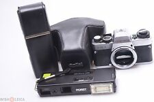 READ*  ROLLEIFLEX SL35 E  & PORST 110 POCKETPAK CAMERA W/CASES *PARTS OR REPAIR*