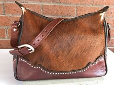 🐎American West Western Pony Hair Handcrafted Genuine Brown Leather Purse