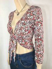 GITANE BODY Tie Up Crop Top Size L Cover Up Crushed Look