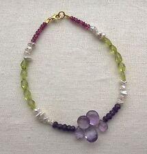 Handmade Peridot Sterling Silver Fine Bracelets
