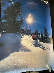 Vtg Tom Spencer By Emmy Spencer Winter Ski Poster Denver Colorado Skier 1972