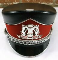 Demoulin Red & Black Marching Band Major Majorette Uniform Hat - Size Small