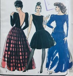 Vintage SEXY LOW BACK SPECIAL OCCASION DRESS Sewing Pattern SIZE 12-16 (ST1462)