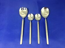 Danish Modern Forge UNF27 Serving Pieces Unknown Mfg Stainless Flatware Set Of 4