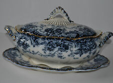 KEELING & CO LATE MAYERS CHATSWORT TUREEN WITH UNDERPLATE CIRCA 1900
