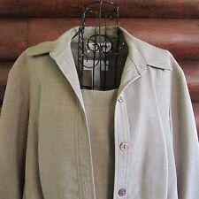 Sag Harbor 3-Piece Pant Suit Plus Size 18W Tan Slacks Top Jacket Blazer Career