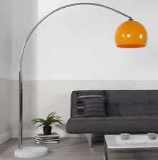 Stehlampe Bogenlampe LATE LOUNGE Orange Marmor Lounge Design Lampe Leuchte NEU