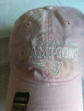 New England Patriots Pink Women's Hat. New! 3 Time Super Bowl Champs Cap.