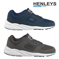 Henleys Mens Markcus Sport Trainers Lace Up Athletic Casual Sneaker Gym Shoes