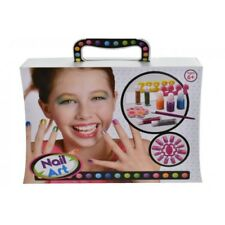 Girls First Nail Art Set 12 Pce in Carry Case Childrens Christmas Toy New