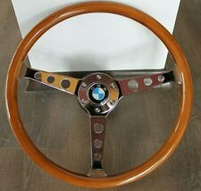 Steering Wheel BMW Vintage Wood Chrome E3 E9 E12 E21 E23 E24 E28 2002 1973-1984