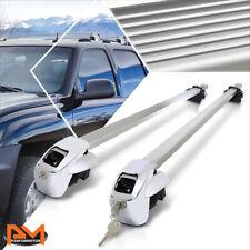 """50"""" Aluminum Roof Rack Adjustable Van/SUV Top Rail Crossbar Baggage Carrier+Lock"""