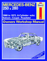 Mercedes 250 280 SL S SE W108 W111 W113 W114 /8 Reparaturanleitung repair manual