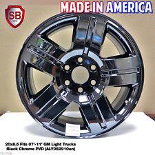 4 NEW Chevy SUBURBAN 20 inch Wheel 5291 Black Chrome 2007 2008 2009 2010 2011