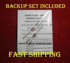 Fix Your Bunn B-10 Coffee Maker w/Thermal Fuse Kit*2 KIT SET* WATER NOT HEATING?