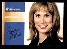 Sandra Becker Autogrammkarte Original Signiert # BC 80107