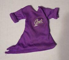 "Vintage 1980 1981 Mego 11"" Fashion Candi Doll Purple Top Shirt Estate Sale"