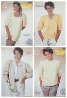 Sirdar Knitting Pattern 8268 4 Designs Sweaters & Cardigan Out & About DK Ladies