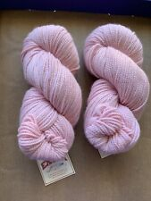 Blue Sky Alpaca Extra Yarn! LOT of 2!  Color is Pink! Texture is twisty! Pretty!