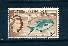 TURKS & CAICOS ISLANDS 1957-60 DEFINITIVES SG243 5d (FISH)  MNH