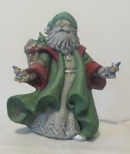 One-of-a-Kind, Hand-Painted Italian Ceramic Santa Claus (Crafted in the USA)