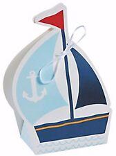 12 NAUTICAL SAILOR TREAT BOXES SAILBOAT NEW Nautical Favors Birthday Baby Shower