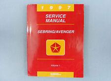 Service Manual, 1997 Sebring/Avenger, Volume 1, Engine/Chassis/Body, 81-270-7117