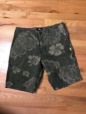 STUSSY Men's Green Floral Shorts Hawaii Size M 32