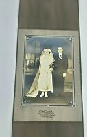 Vintage Antique Early 1900s Wedding Cabinet Photograph Chicago Heights ILL