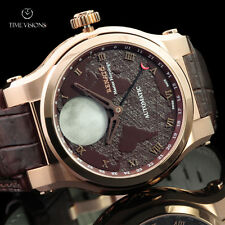 Renato 45mm Master Horologe Moonphase Swiss Made Automatic Alligator Strap Watch
