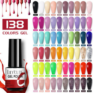 LILYCUTE Soak Off UV Gel Polish Esmaltes de gel Uñas Nail Art coración Manicura