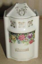 VORRATSDOSE KÜMMEL Jugendstil Vorratsbehälter ROSEN- Dekor um 1900 Porzellan
