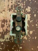 Antique Circa 1900 Porcelain Base H & H Push Button Light Switch