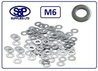 M6 - 6MM STAINLESS STEEL WASHER FLAT WASHER STAINLESS A2 ST/STEEL 6mm (M6)