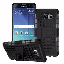 Black Strong Tradesman Dual Layer Tough Case Cover for Samsung Galaxy Note 5