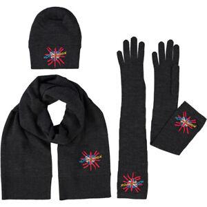 DOLCE & GABBANA Three Pack Hat, Scarf & Gloves Set - NEW