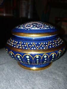 Vintage HB Quimper Vase With Lid
